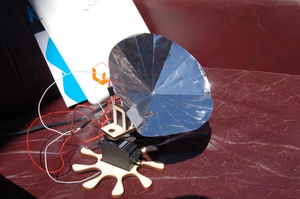 Produkt des Tages: ein selbstgebauter Solarkollektor!