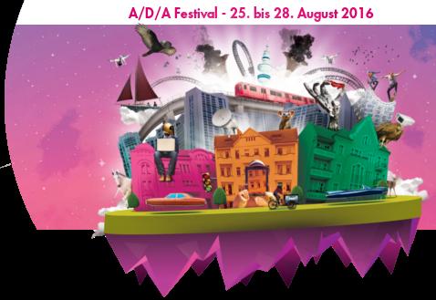 A/D/A Festival 25. bis 28. August 2016 Banner