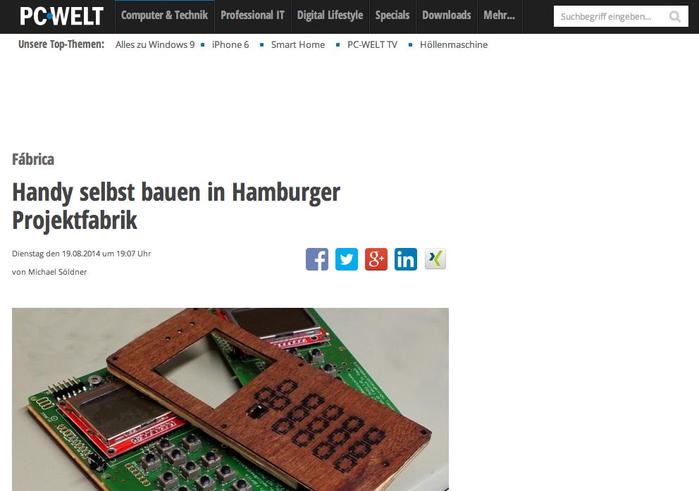 pressespiegel pc welt handy selbst bauen in hamburger projektfabrik fabulous st pauli. Black Bedroom Furniture Sets. Home Design Ideas