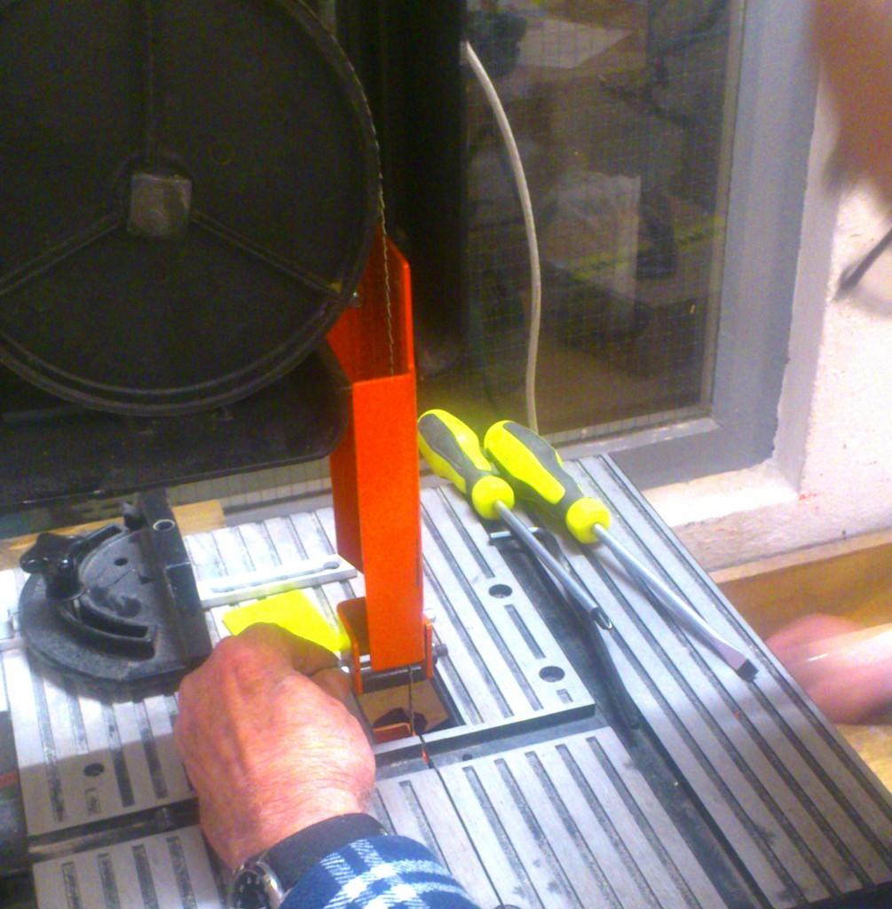 Reparatur einer Bandsäge