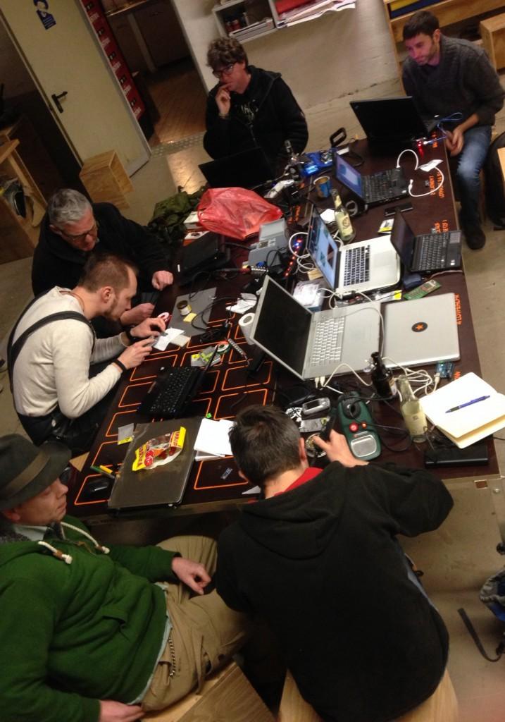 Arduino-Gruppe im Fab Lab