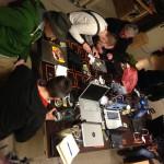 Die neu gegründete Arduino-Gruppe tagt