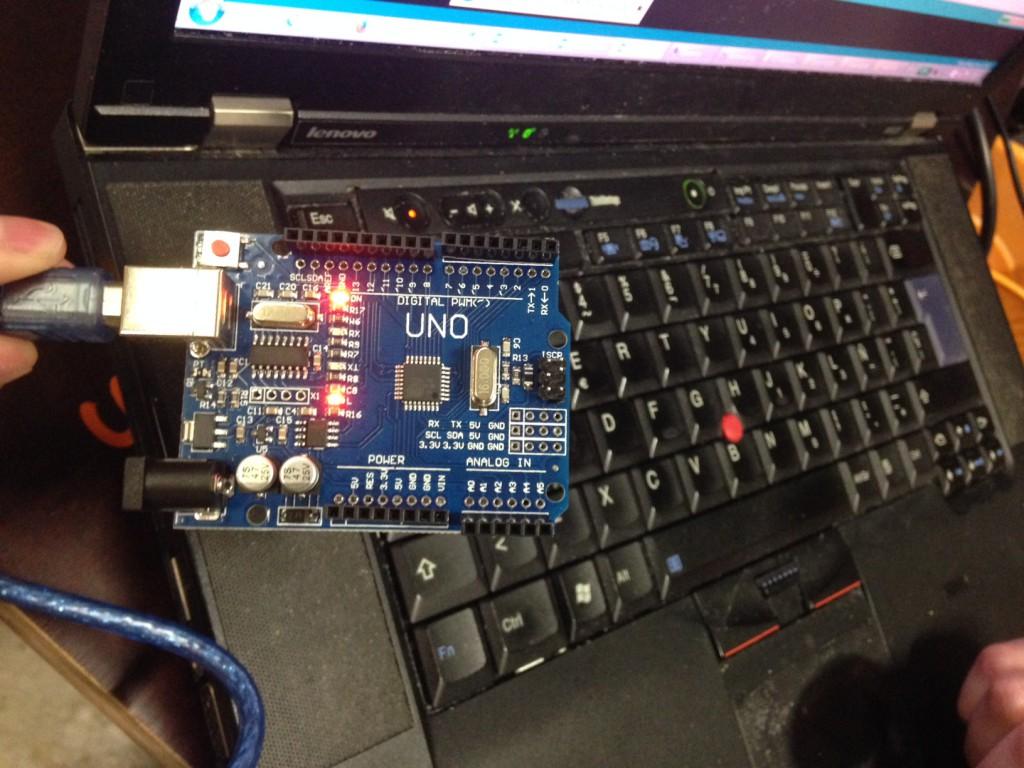 Arduino Uno am Rechner