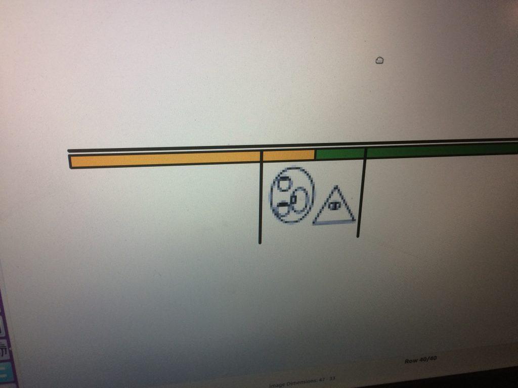 Motiv für AYAB Strickmaschine
