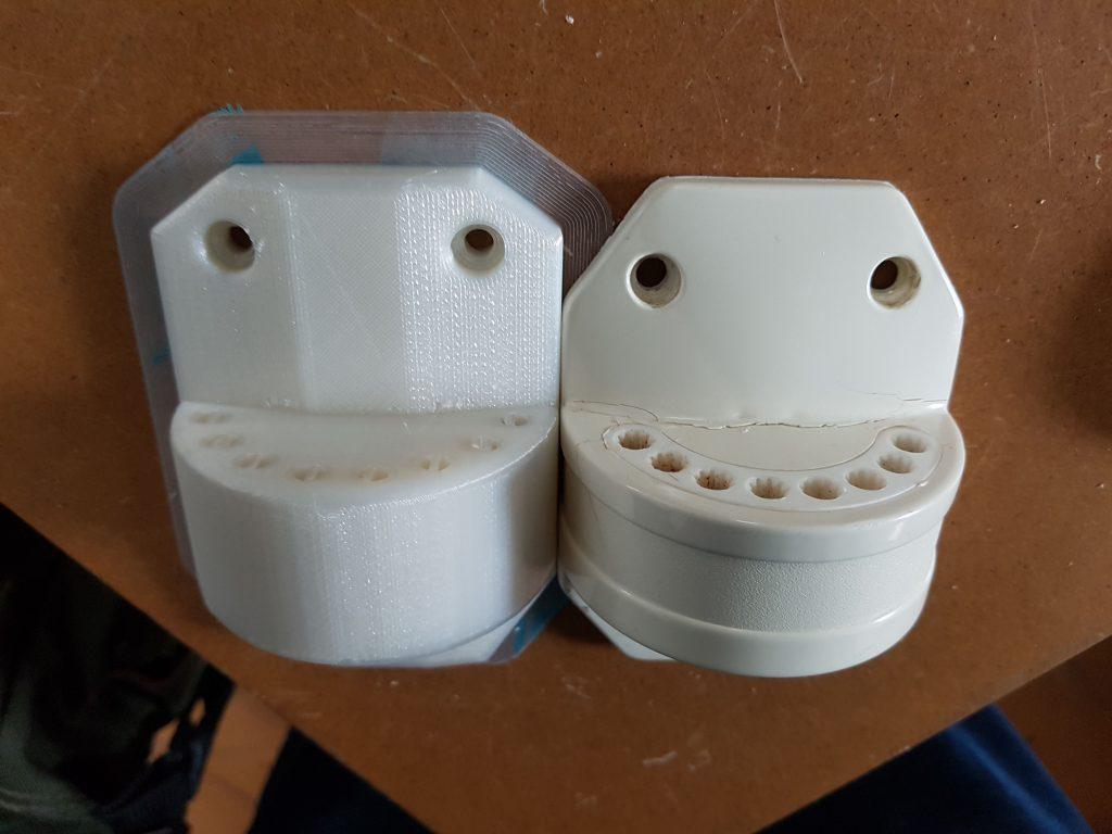 Duschspinnenhalter, Ersatzteil, 3D-gedruckt