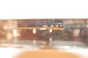 Die Platine im SMD Reflow Ofen
