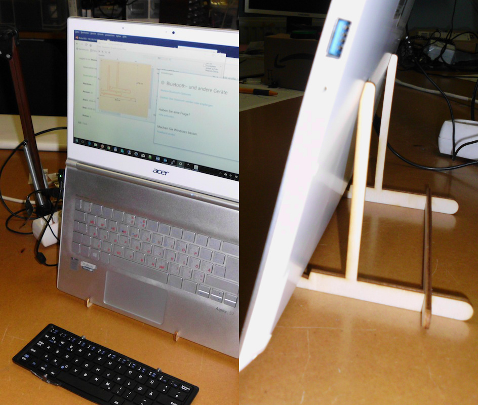Laptop-Halterung aus Holz